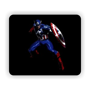 "Captain America (A)  Mouse Pad  9.25"" X 7.75"""