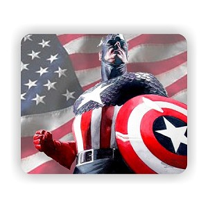 "Captain America (B)  Mouse Pad  9.25"" X 7.75"""