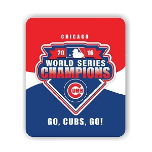 "Chicago Cubs Championship Mouse Pad 9.25"" X 7.75"""