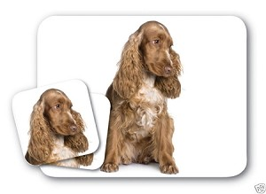 COCKER SPANIEL MOUSE PAD & SET OF 2 COASTERS GREAT GIFT