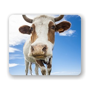 "Curious Cow Mouse Pad 9.25"" X 7.75"""