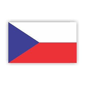 Czech Republic Flag  Vinyl Die-Cut Decal / Sticker ** 4 Sizes **
