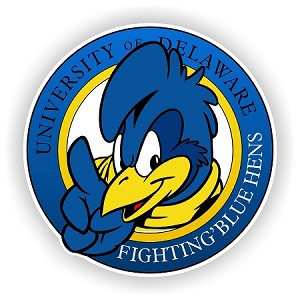 Delaware Fightin' Blue Hens Mascot Emblem Die-Cut Decal ** 4 Sizes **