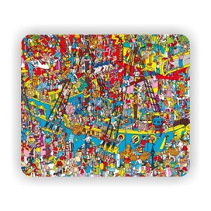 "Find Waldo (B) Mouse Pad  9.25"" X 7.75"""