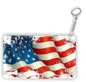 Grunge American Flag Key Chain