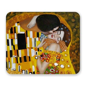"Gustav Kilmt ""The Kiss"" Mouse Pad 9.25"" X 7.75"""