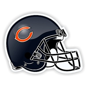 Helmet Chicago Bears Die-Cut Decal / Sticker ** 4 Sizes **