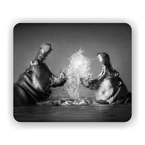 "Hippos Fighting Mouse Pad 9.25"" X 7.75"""