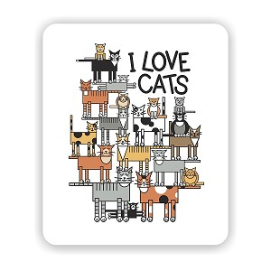 "I Love Cats Mouse Pad 9.25"" X 7.75"""