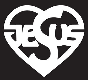 Jesus Heart Die-Cut Decal ** 3 Sizes **
