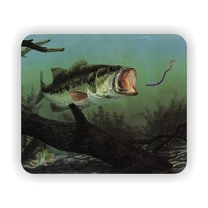 "Largemouth Bass Fish (E)  Mouse Pad  9.25"" X 7.75"""