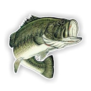Largemouth Bass Fish Die Cut Vinyl Decal Sticker 4