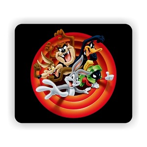 "Looney Tunes Characters Mouse Pad  9.25"" X 7.75"""