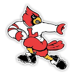 Louisville Cardinals Football Mascot (Style A) Die-Cut Decal / Sticker ** 4 Sizes **