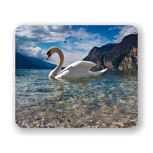 "Majestic Swan Mouse Pad 9.25"" X 7.75"""
