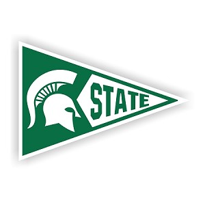 Michigan State Penant Shape Die-Cut Decal / Sticker ** 4 Sizes **