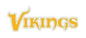 Minnesota Vikings Wording Vinyl Die Cut Decal Sticker
