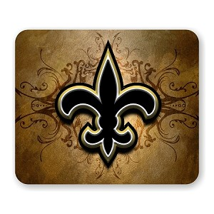 "New Orleans Saints Mouse Pad 9.25"" X 7.75"""