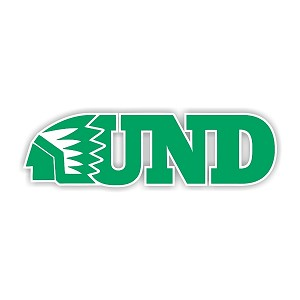 North Dakota Fighting Sioux (D) Vinyl Die-Cut Decal / Sticker ** 4 Sizes **