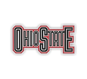 Ohio State University Straight Letters Die Cut Decal