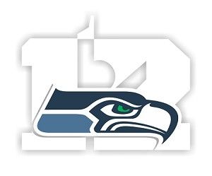 Seattle Seahawks 12th Man Logo Vinyl Die-Cut Decal ** 4 Sizes **