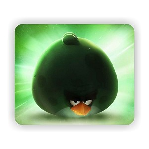"Space Angry Birds ""Bash"" (A)  Mouse Pad  9.25"" X 7.75"""