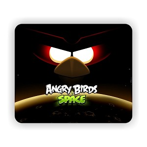 "Space Angry Birds  Mouse Pad  9.25"" X 7.75"""
