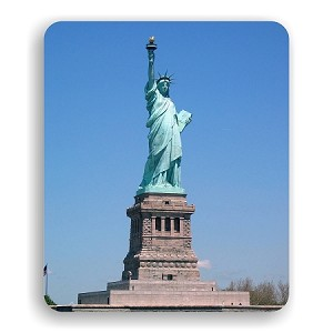 "Statue of Liberty (E) Mouse Pad  9.25"" X 7.75"""
