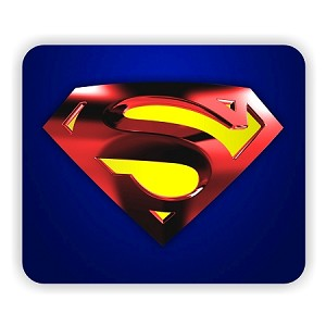 "Superman Metalic Emblem Mouse Pad  9.25"" X 7.75"""