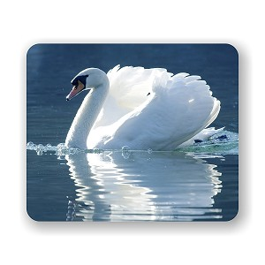 "Swan Reflection Mouse Pad 9.25"" X 7.75"""