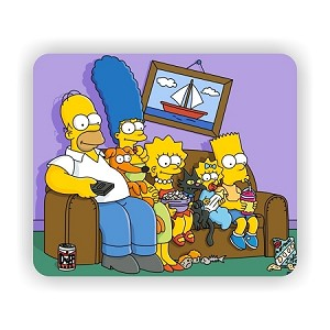 "The Simpsons (B) Mouse Pad  9.25"" X 7.75"""