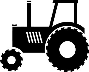 Tractor Die-Cut Vinyl Decal / Sticker *Add Your Ranch Or ...