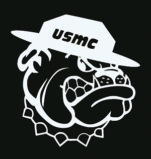 USMC (Marine Corps) Bulldog Vinyl Die-Cut Decal / Sticker ** 4 Sizes **