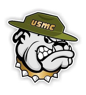 USMC Marines Bulldog Vinyl Die-Cut Decal / Sticker ** 4 Sizes **