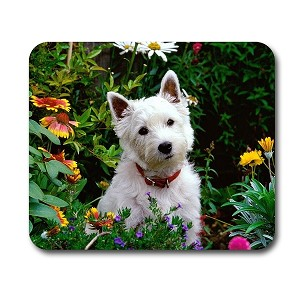 "West Highland Terrier Mouse Pad 9.25"" X 7.75"""